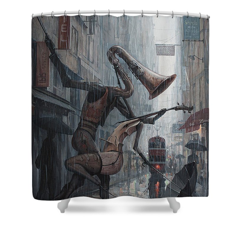 Saxophone Shower Curtains