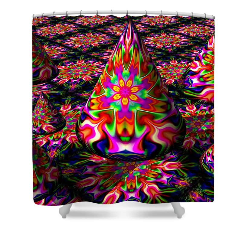 Party Shower Curtain featuring the digital art Life Of The Party by Robert Orinski