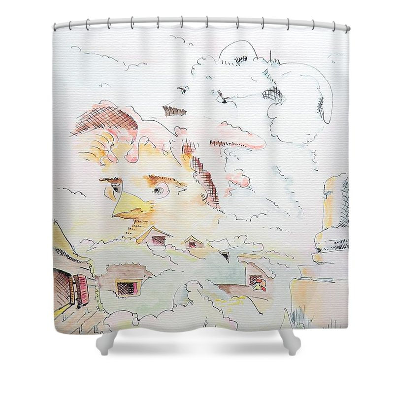 Farm Shower Curtain featuring the painting Life On The Farm by Dave Martsolf