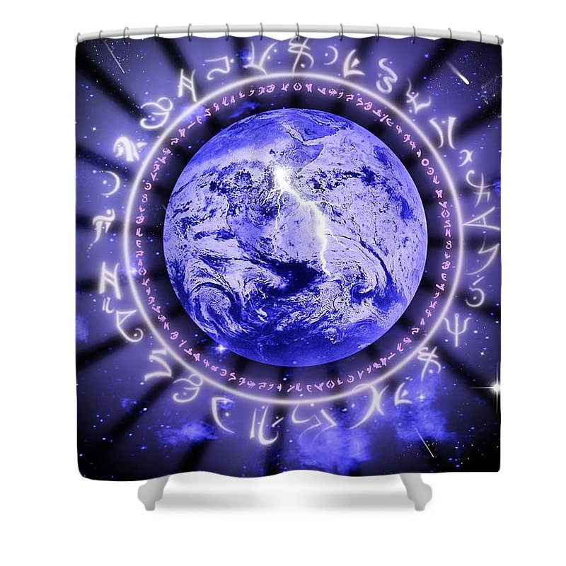 Life Shower Curtain featuring the digital art Life by Rhonda Barrett