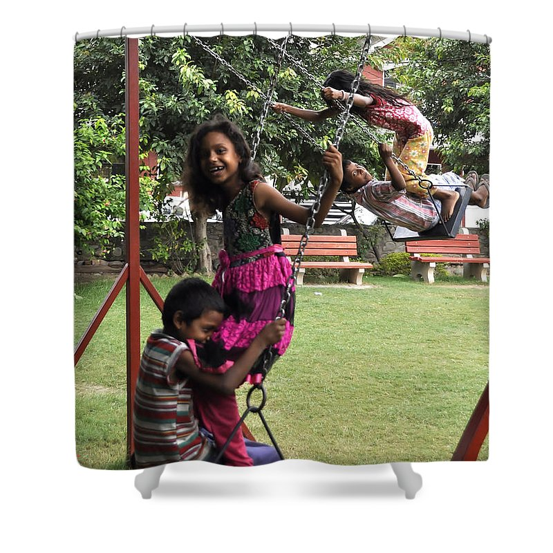 Play Shower Curtain featuring the photograph Life Swing by Bliss Of Art