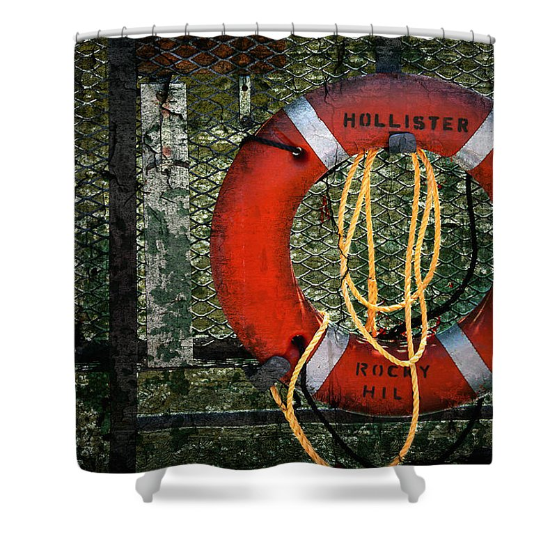 Lifesaver Shower Curtain featuring the photograph Lifesaver by Evelina Kremsdorf