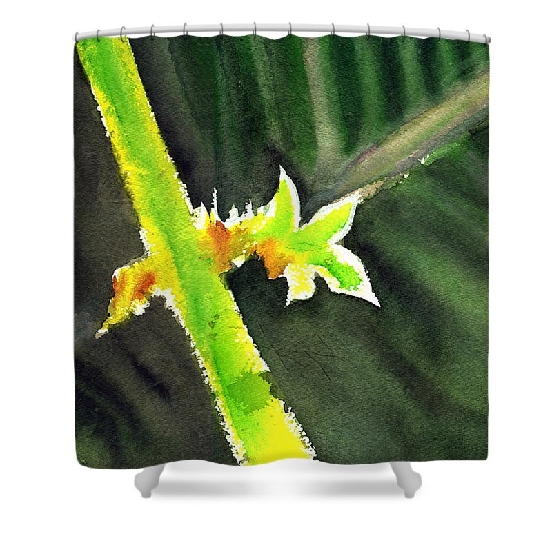 Water Color Shower Curtain featuring the painting Light Branch by Anil Nene