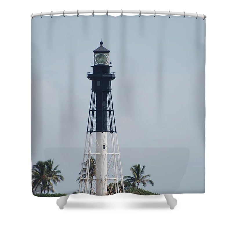 Landscape Shower Curtain featuring the photograph Light House by Rob Hans