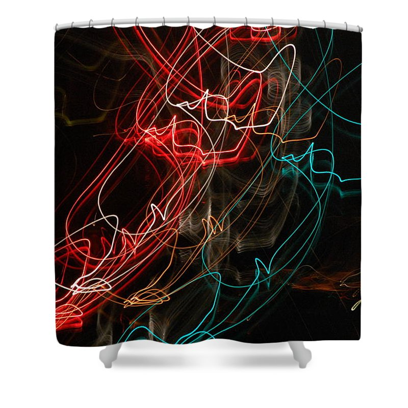 Abstract Digital Photo Shower Curtain featuring the photograph Light In Motion by David Lane