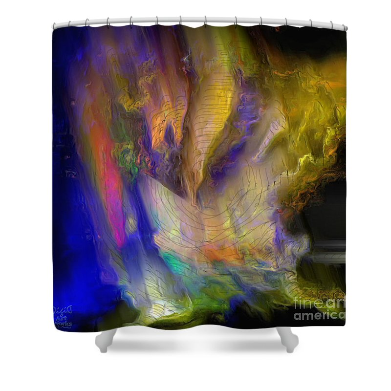 Abstract Shower Curtain featuring the photograph Light Magic by Dee Flouton