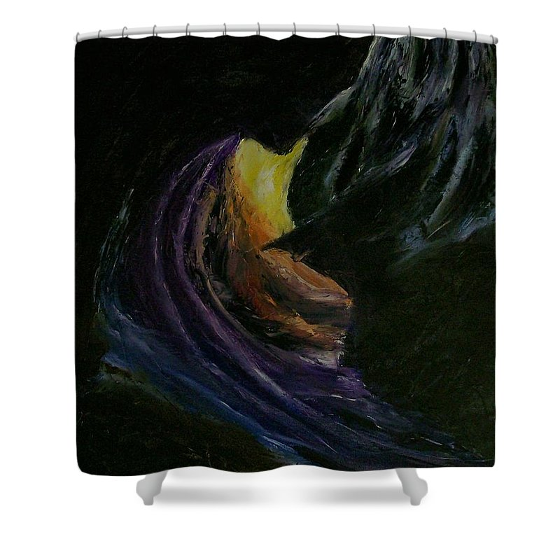 Shower Curtain featuring the painting Light Of Day by Stephen King