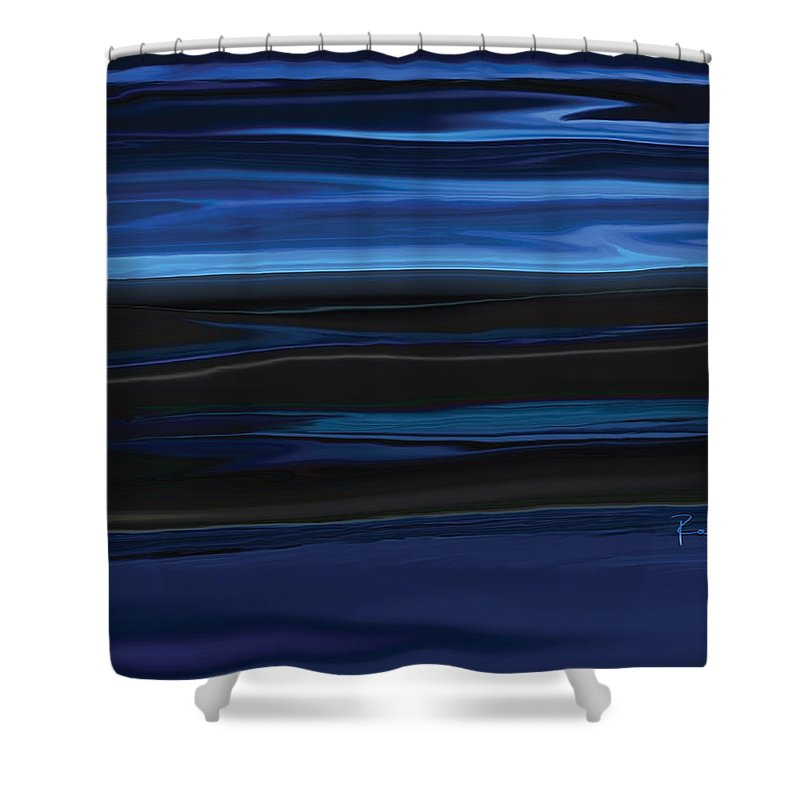 Black Shower Curtain featuring the digital art Light On The Horizon by Rabi Khan