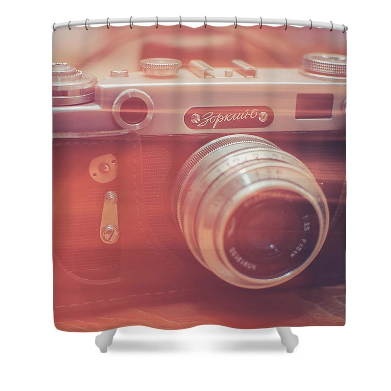 Camera Shower Curtain featuring the photograph Light by Ondrej Supitar