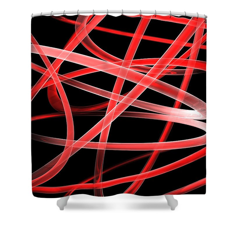 Scott Piers Shower Curtain featuring the painting Light Red by Scott Piers