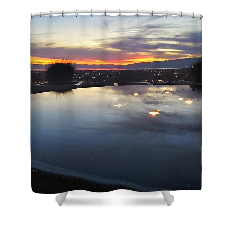 Landscapes Shower Curtain featuring the photograph Light Reflections by Jess' Shots