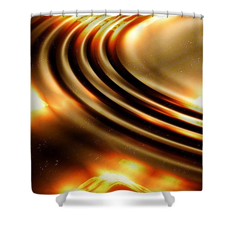 Ripple Shower Curtain featuring the digital art Light Show by Robert Orinski
