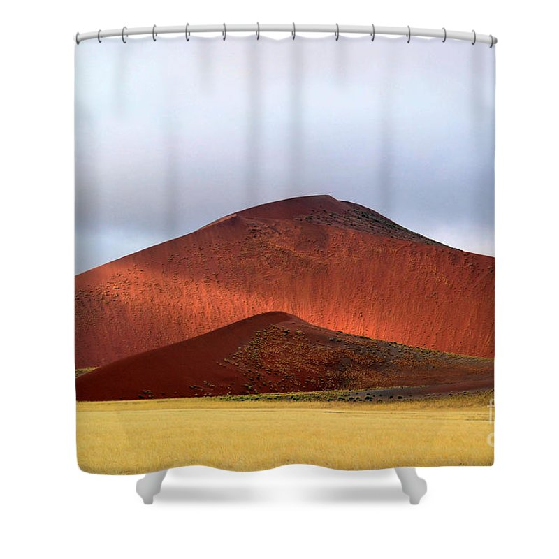 Africa Shower Curtain featuring the photograph Light Struggle At Sossusvlei by Rossano Ossi