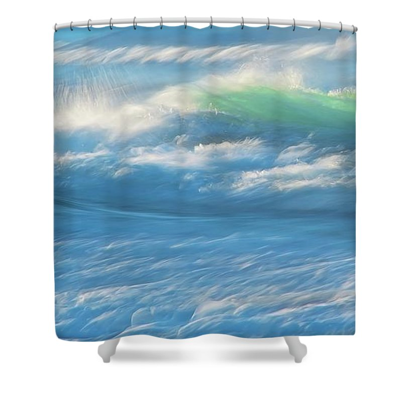 Nature Shower Curtain featuring the photograph Light Wave at Asilomar, Pacific Grove, California by Zayne Diamond Photographic