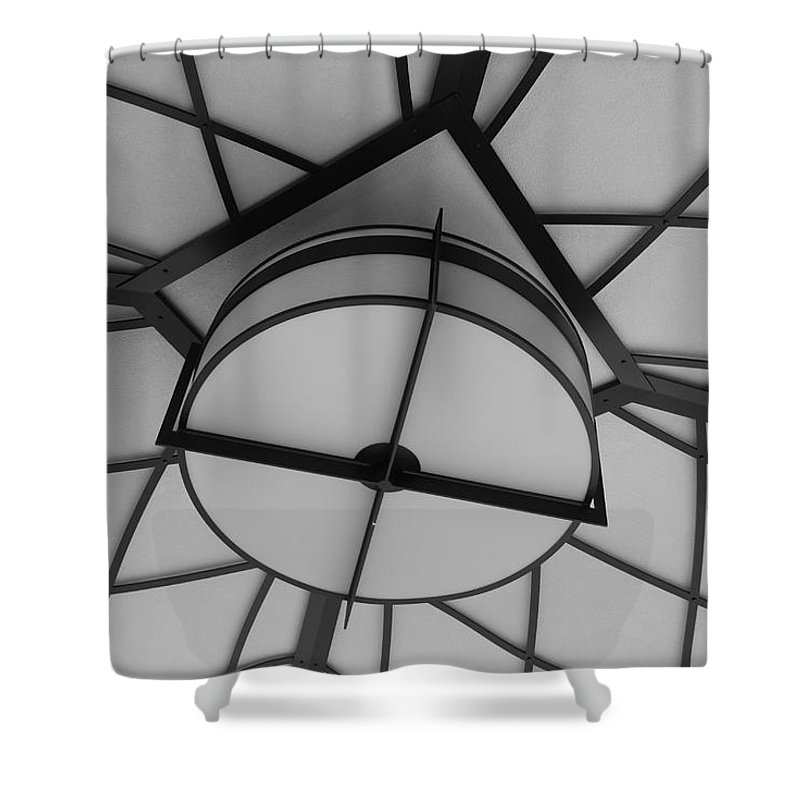 Architecture Shower Curtain featuring the photograph Lighted Box by Rob Hans