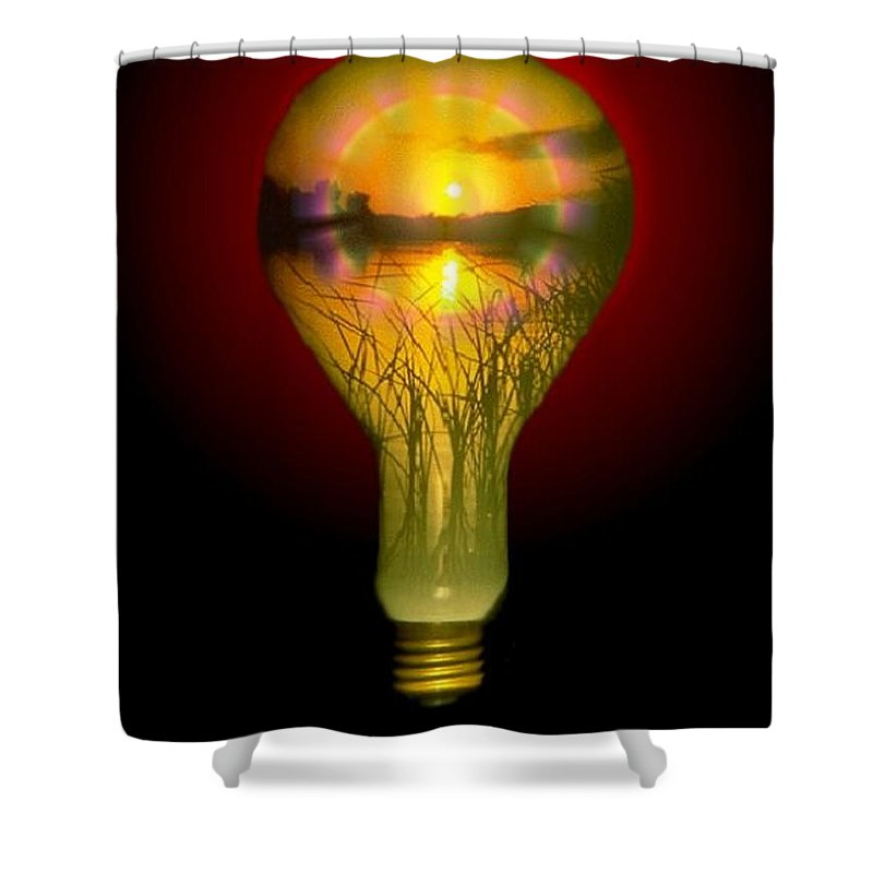 Sunset Shower Curtain featuring the photograph Lighthearted Sunset by Tim Allen