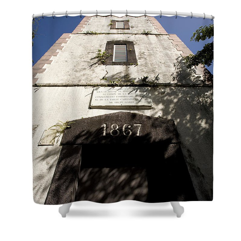 Underneath Shower Curtain featuring the photograph Lighthouse On Point Venus by Tim Laman