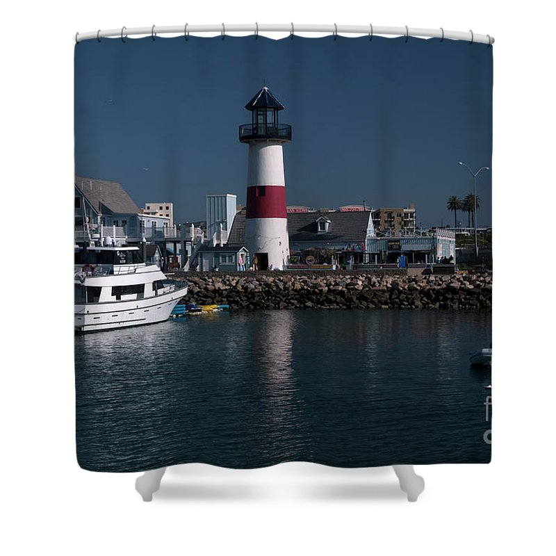 Oceanside Shower Curtain featuring the photograph Lighthouse by Rod Wiens