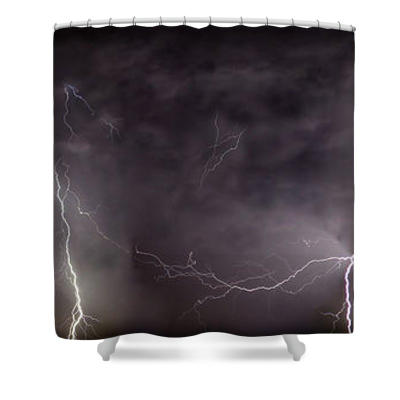 Lightning Shower Curtain featuring the photograph Lightning Over Perris by Anthony Jones