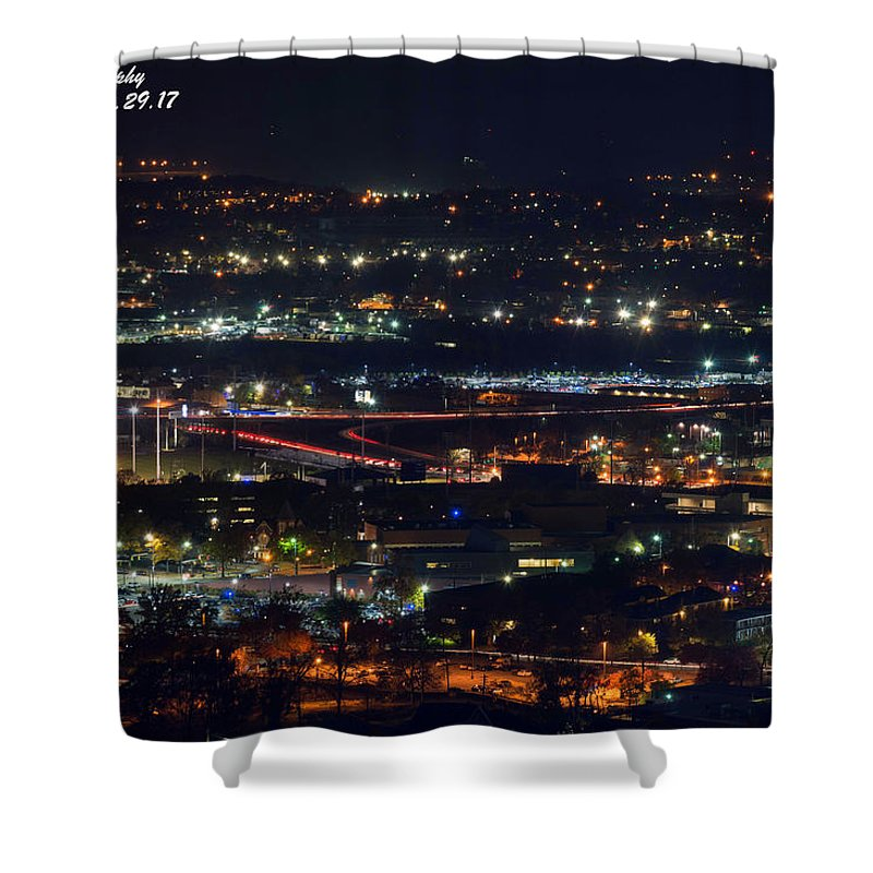 Birmingham Shower Curtain featuring the photograph Lights Across Birmingham by Jeffery Gordon