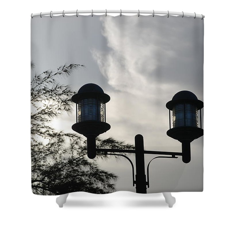 Sunset Shower Curtain featuring the photograph Lights In The Sky by Rob Hans