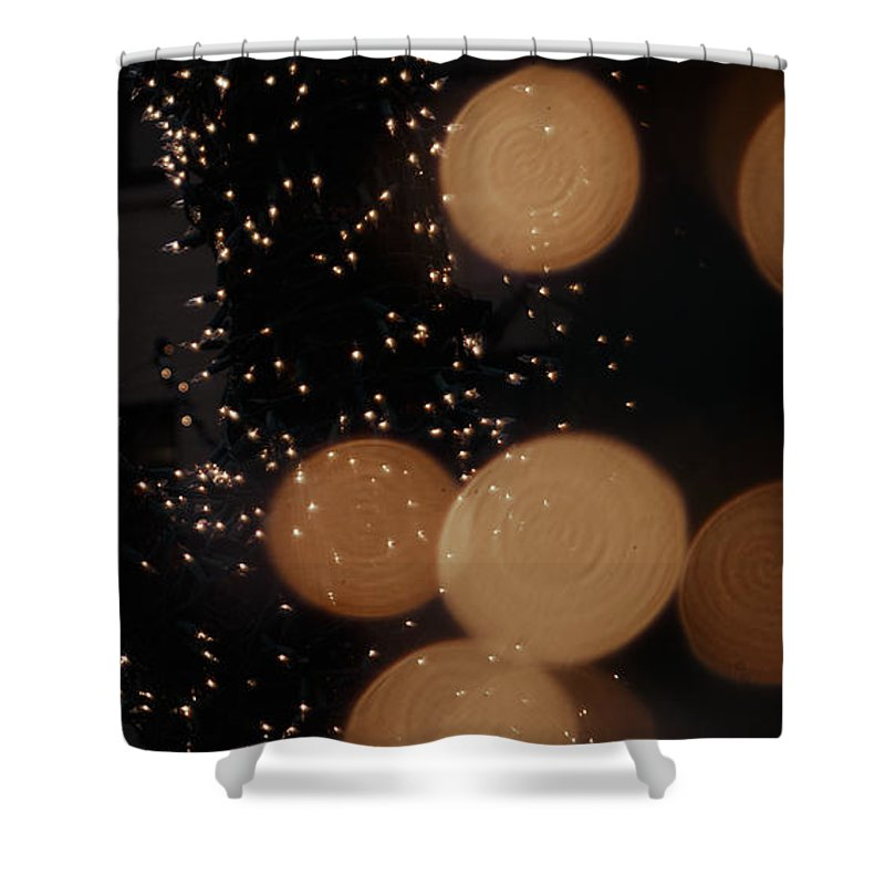 Abstract Shower Curtain featuring the photograph Lights Lights Lights by Henri Irizarri
