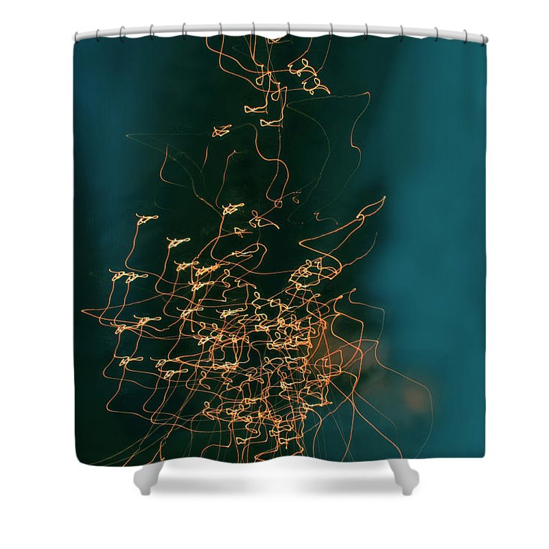 Abstract Shower Curtain featuring the photograph Lights by Linda Sannuti
