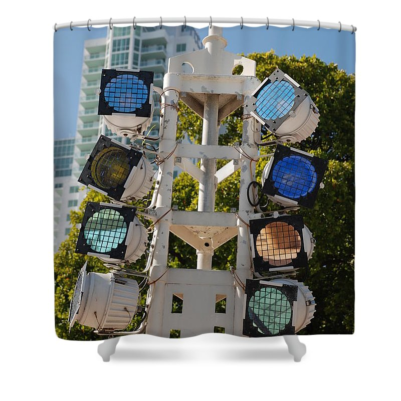 Lights Shower Curtain featuring the photograph Lights by Rob Hans