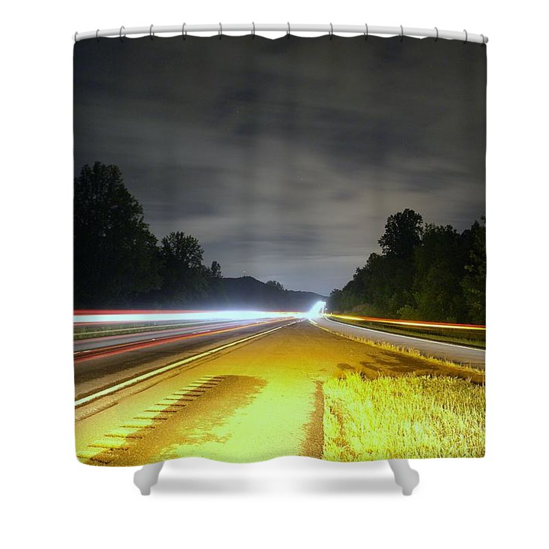 Landscape Shower Curtain featuring the photograph Lightworks by Alex Grichenko