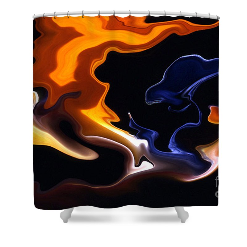 Abstract Shower Curtain featuring the photograph Liquid Paradise by Norman Andrus