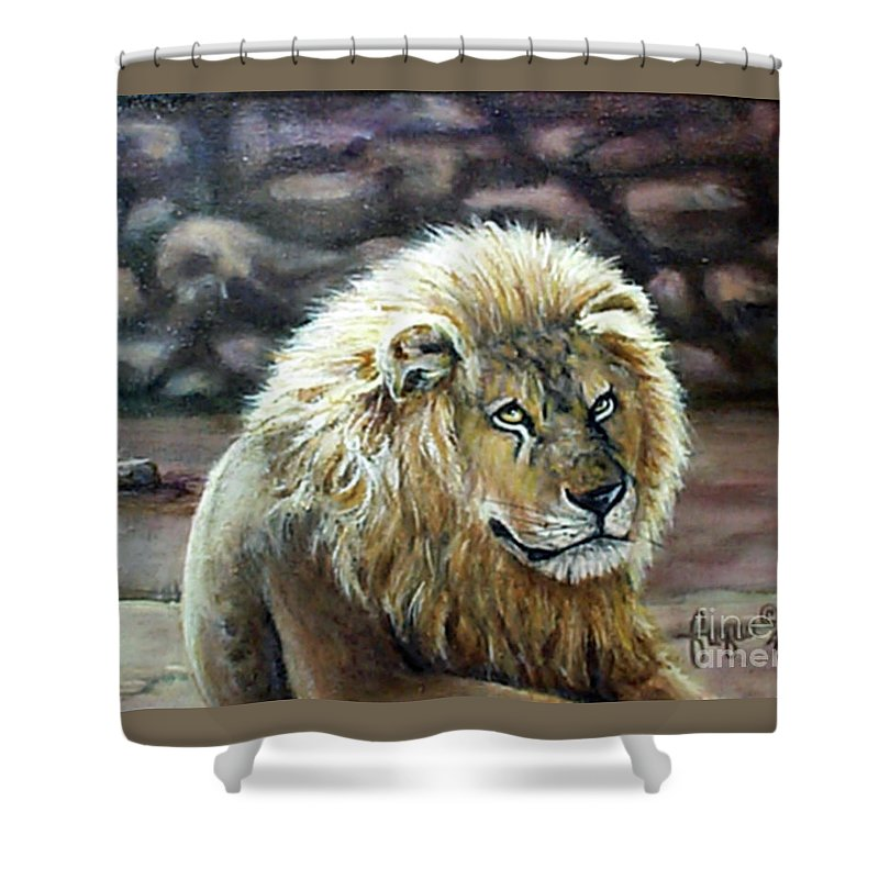 Fuqua - Artwork Shower Curtain featuring the painting Like Father by Beverly Fuqua
