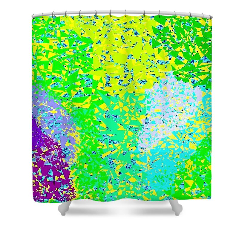 Abstract Shower Curtain featuring the digital art Lilac Lane by Will Borden