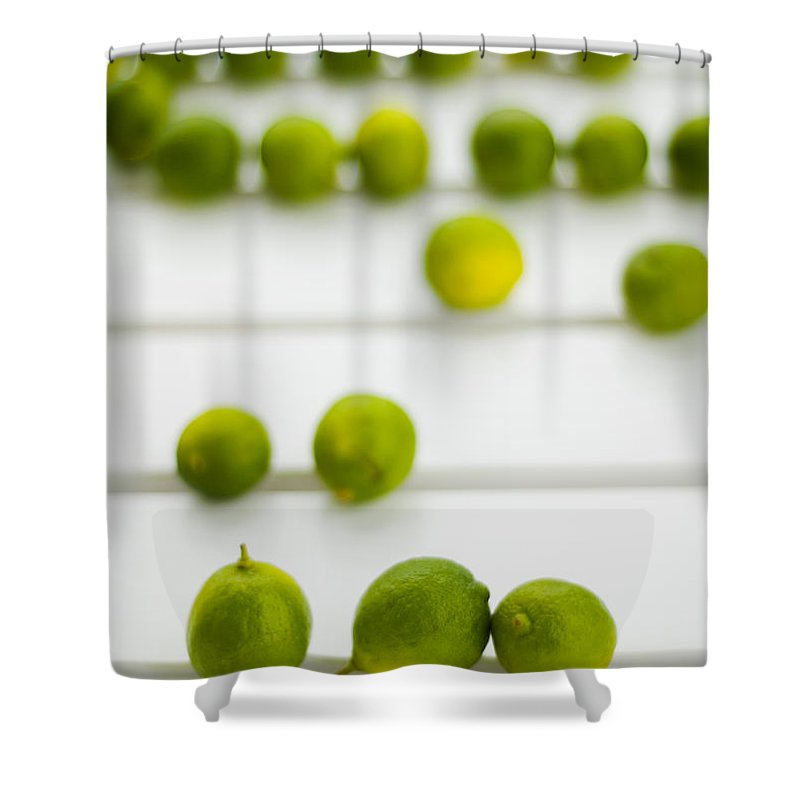 Green Shower Curtain featuring the photograph Lime Green by Skip Hunt