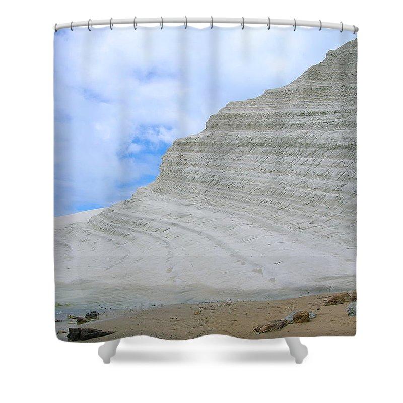 Limestone Shower Curtain featuring the photograph Limestone Cliffs by Stefania Levi