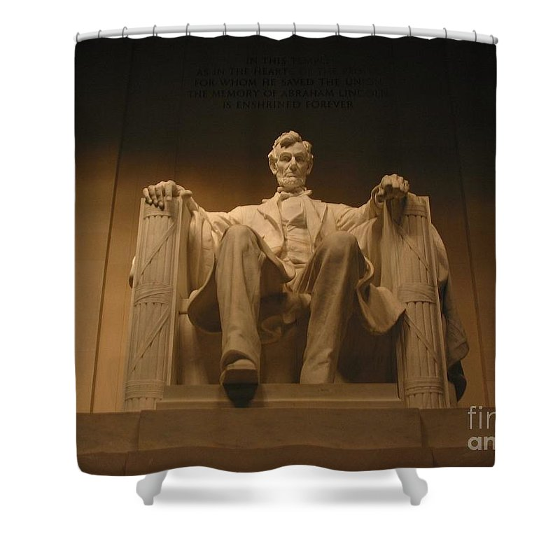Abraham Lincoln Shower Curtain featuring the photograph Lincoln Memorial by Brian McDunn