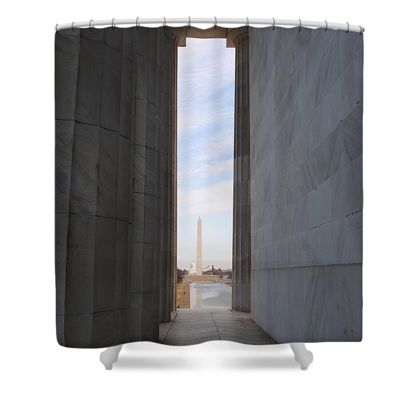 Lincoln Shower Curtain featuring the photograph Lincoln's View by Jost Houk