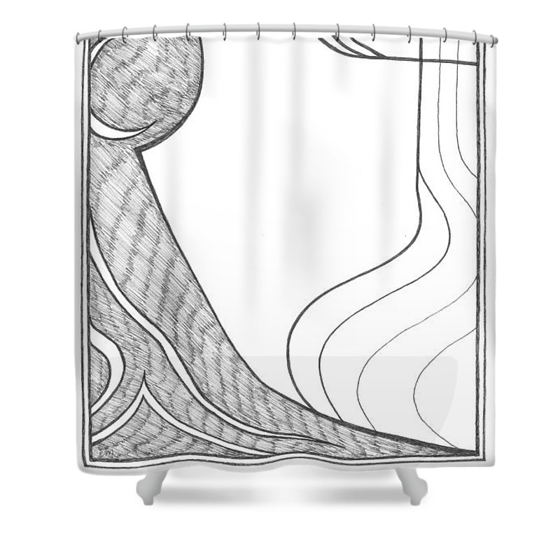 Drawing Shower Curtain featuring the drawing Line And Tone by Cecily McKeown
