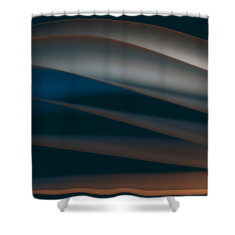 Paper Shower Curtain featuring the painting Line by Sergey Tolmachev