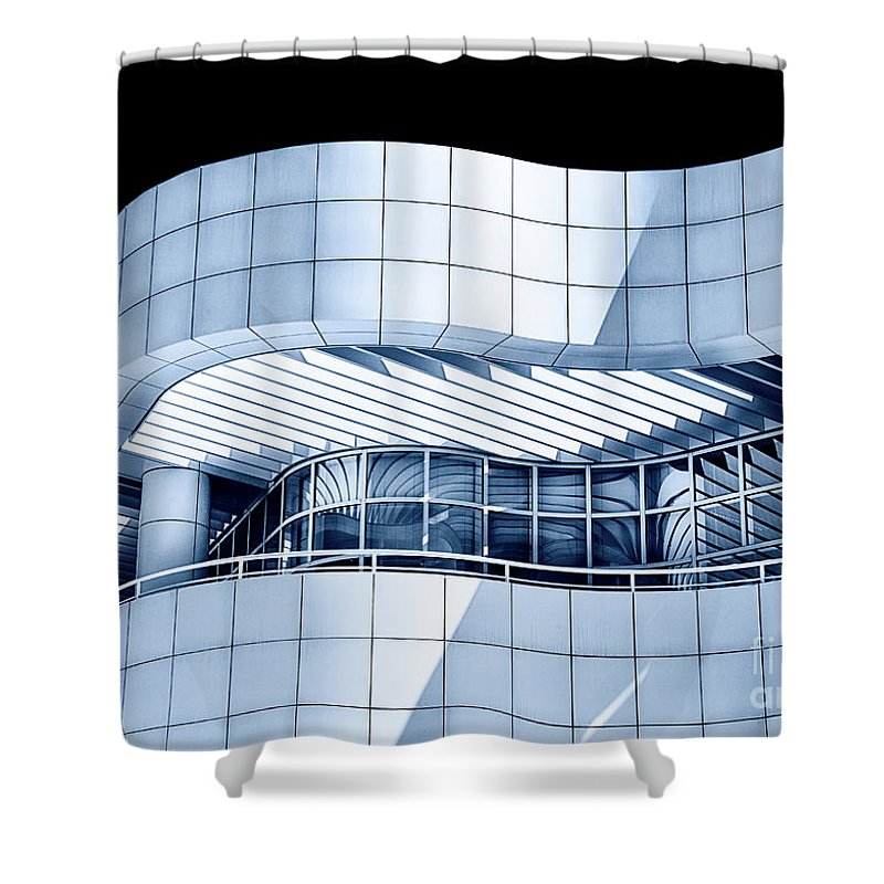Architecture Shower Curtain featuring the photograph Lines And Curves by Mimi Ditchie