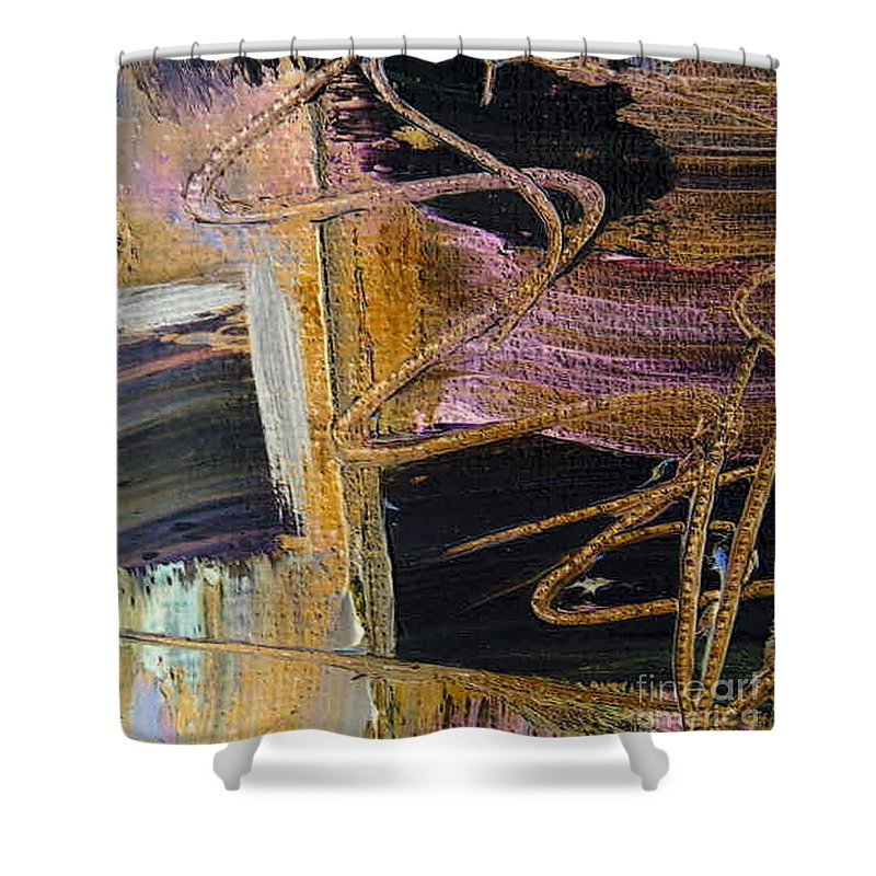 Lingering Moment Shower Curtain featuring the painting Lingering Moment by Dawn Hough Sebaugh