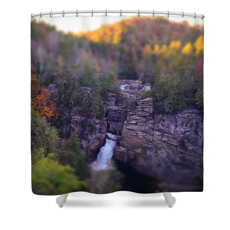 Linville Falls Shower Curtain featuring the photograph Linville Falls by Brittany Jordan
