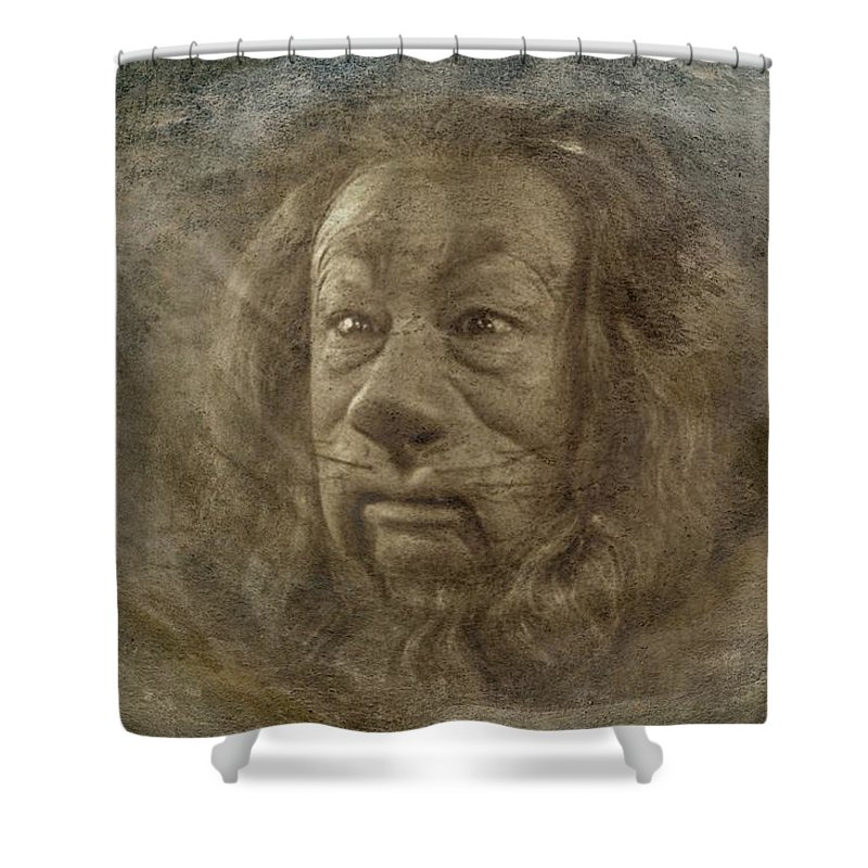 Lion Shower Curtain featuring the digital art Lion by Movie Poster Prints