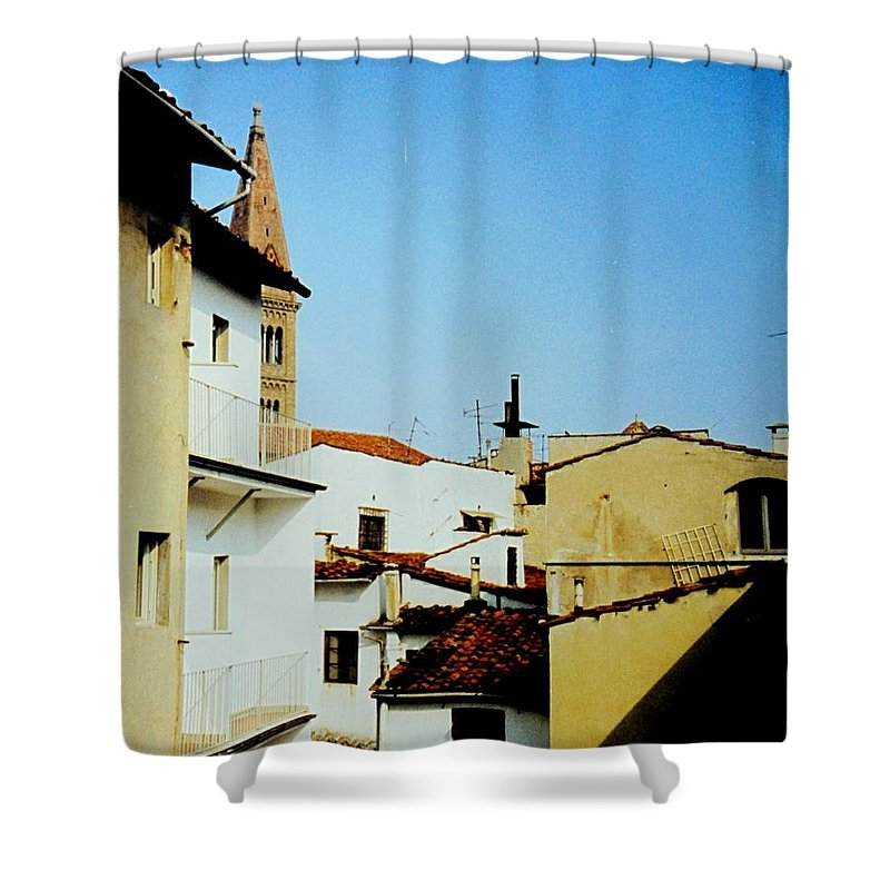 Lisbon Shower Curtain featuring the photograph Lisbon Angles by Ian MacDonald