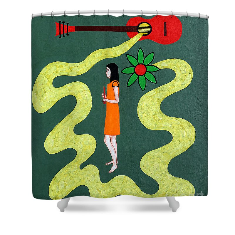 Music Shower Curtain featuring the painting Listen To The Music by Patrick J Murphy