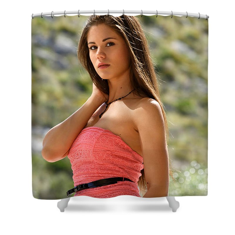 Little Caprice Shower Curtain for Sale by Angie Fraley