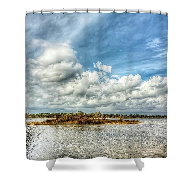Perdido Key Shower Curtain featuring the photograph Little Island by Gary Oliver
