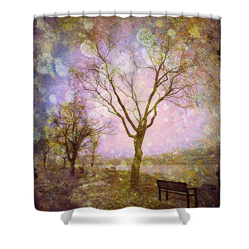 Texture Shower Curtain featuring the photograph Little Pathways by Tara Turner