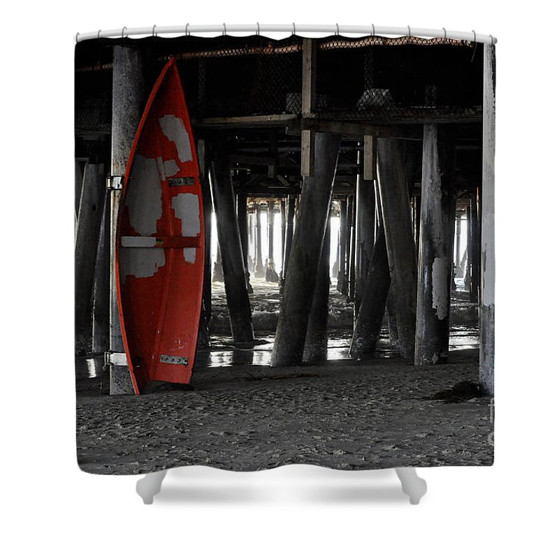 Clay Shower Curtain featuring the photograph Little Red Boat by Clayton Bruster