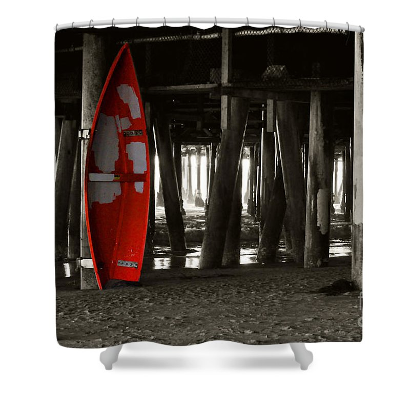 Clay Shower Curtain featuring the photograph Little Red Boat IIi by Clayton Bruster