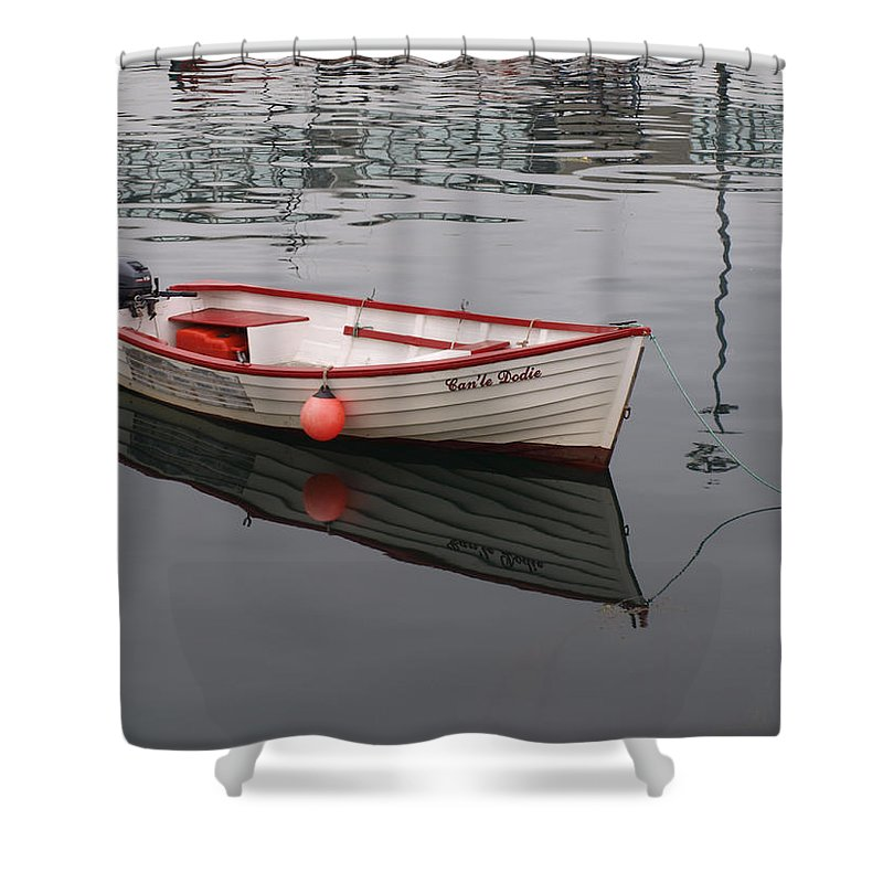 Stromness Shower Curtain featuring the photograph Little Red Boat by Michaela Perryman